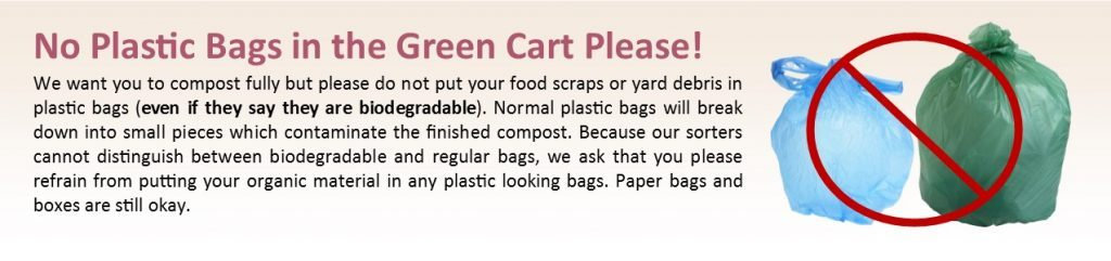 Marin Sanitary says no plastic bags in compost