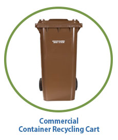 Marin Sanitary Commercial Recycling Cart for Containers
