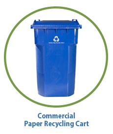 commercial recycling cart