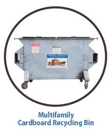 Marin Multifamily Cardboard Recycling Bin