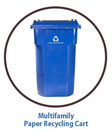 Multifamily Recycling Cart