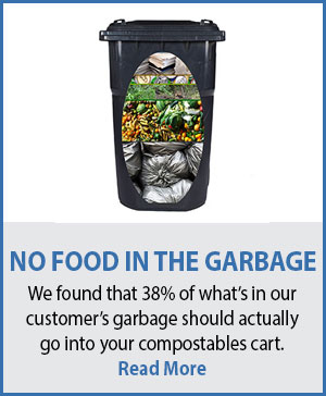 Food doesn't go in the garbage!