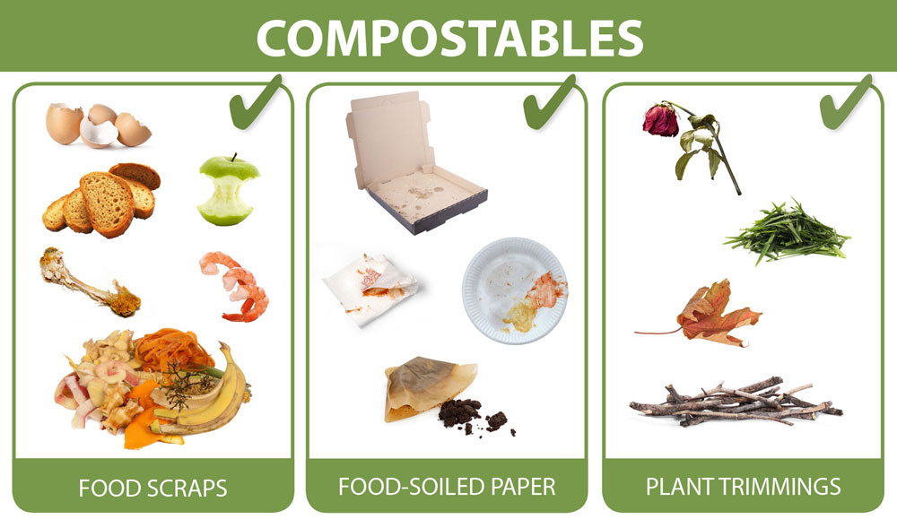 What can go in compostables carts