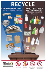 MSS Split Cart Recycling Poster