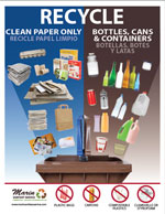 MSS 8.5 X 11 Split Cart Recycling Poster