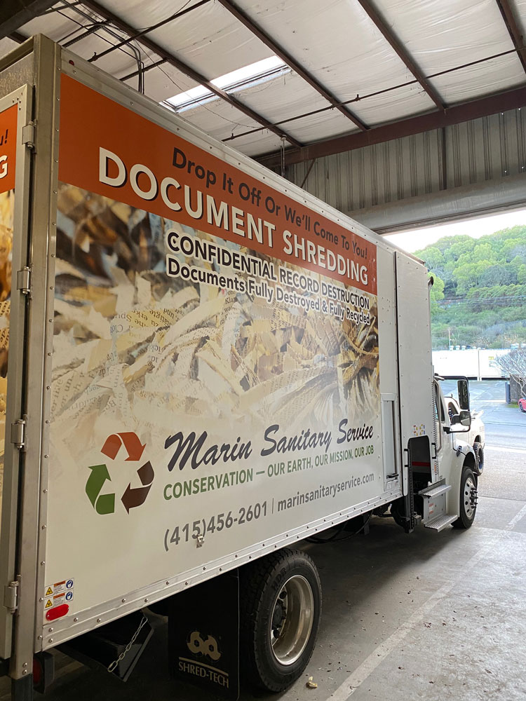Mobile Document Shredding Truck Side