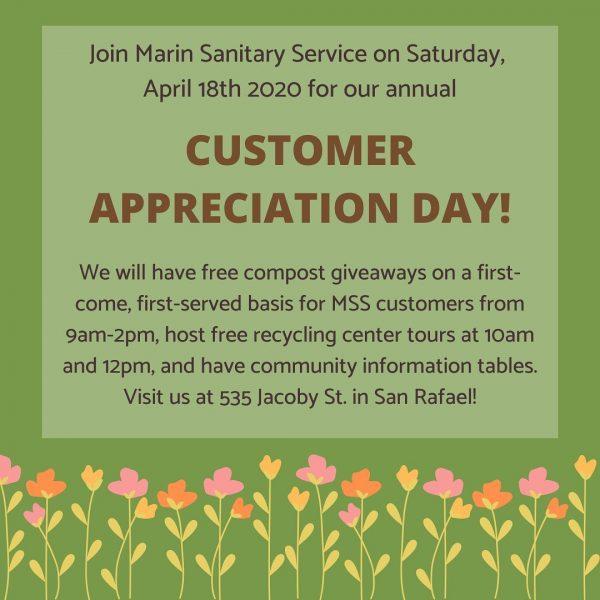 Marin Sanitary Customer Appreciation Day 2020