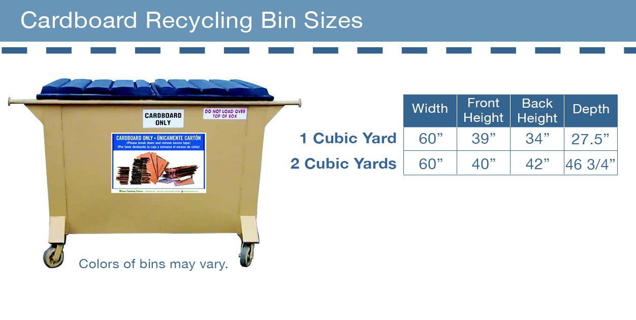 Commercial Cardboard Recycling Cart Sizes
