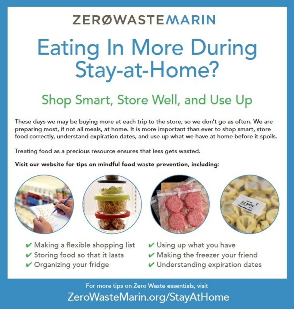 Zero Waste Marin Eating In More During Stay at Home