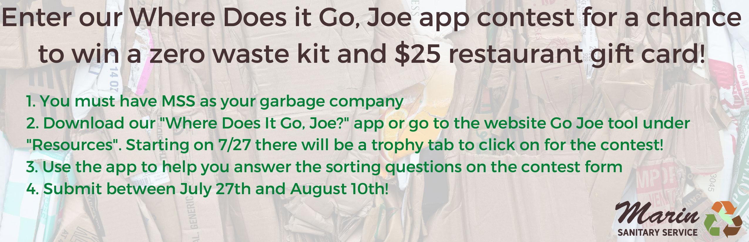 Where Does It Go, Joe Contest